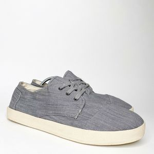 Toms Paseo Sneakers Blue Chambray Low Top